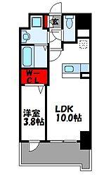 JR篠栗線 柚須駅 徒歩24分の賃貸マンション 2階1LDKの間取り