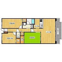 ファミールハイツ京都伏見ステージ1[5階]の間取り