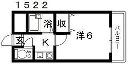 杉村ハイツIII[402号室号室]の間取り