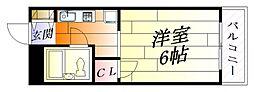大阪府摂津市昭和園の賃貸マンションの間取り