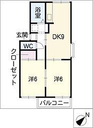 パビヨン柏井[2階]の間取り