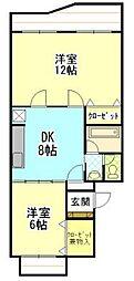 センチュリーハイツ町田16[303号室]の間取り