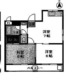 パークレットユニオン[305号室号室]の間取り