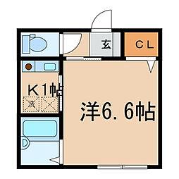 神奈川県川崎市川崎区渡田2丁目の賃貸マンションの間取り