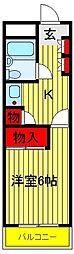 エソール柏[203号室]の間取り