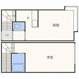 シャトーメロン[2階]の間取り