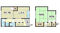 [一戸建] 兵庫県姫路市玉手 の賃貸【兵庫県 / 姫路市】の間取り