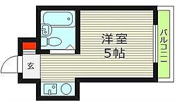 シャトー京橋[2階]の間取り