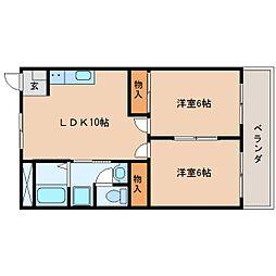 静岡県静岡市清水区大坪1丁目の賃貸マンションの間取り
