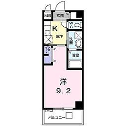 龍翔鳳舞 5階1Kの間取り
