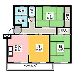 東丘住宅 G棟[3階]の間取り