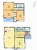 リフォーム後の間取り図面です。吹き抜けが有り開放感も有って使い勝手の良い4LDKの住宅です。
