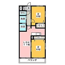 サンライズ勝川[5階]の間取り