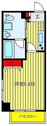 都営三田線 板橋本町駅 徒歩9分の賃貸マンション 1階1Kの間取り
