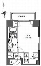 都営新宿線 馬喰横山駅 徒歩9分の賃貸マンション 3階1Kの間取り