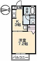 シャーメゾン奥村[2階]の間取り
