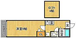 TENYAシティビル[2階]の間取り