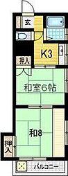八広コーポ[3階]の間取り