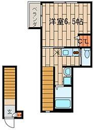 東京都世田谷区代田6丁目の賃貸アパートの間取り