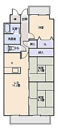 メゾンドルミエール[6階]の間取り