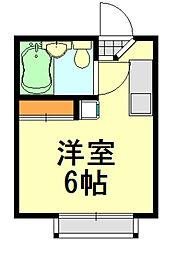 グリーンハウス[203号室]の間取り