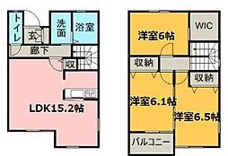 [テラスハウス] 愛知県名古屋市名東区極楽3丁目 の賃貸【/】の間取り