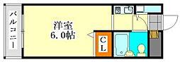 アピス東船橋[102号室]の間取り