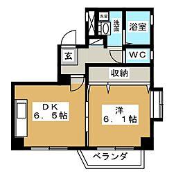 サンセイハイツ押切[2階]の間取り