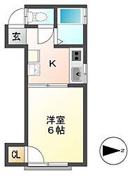 ハイツ上野[2階]の間取り