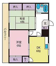藤レジデンス[1階]の間取り