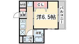 Osaka Metro御堂筋線 西中島南方駅 徒歩16分の賃貸マンション 3階1Kの間取り