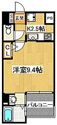 エスポワール本八幡[4階]の間取り