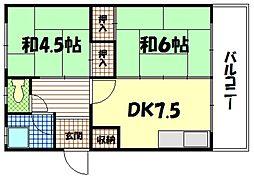 神田マンション[2階]の間取り