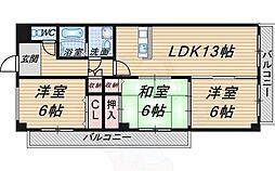 北大阪急行電鉄 桃山台駅 徒歩18分の賃貸マンション 1階3LDKの間取り