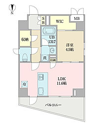 EIRAKU apartment 2階1LDKの間取り