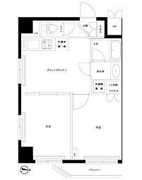 東京都大田区新蒲田1丁目の賃貸マンションの間取り