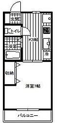 神奈川県大和市大和東3の賃貸アパートの間取り