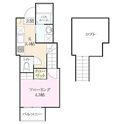 六本松555[2階]の間取り