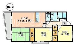 スペランツァ西神戸[6階]の間取り