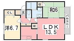 ラ・フォーレ C棟[207号室]の間取り