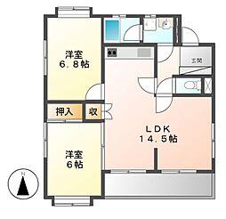 サンサーラキトー[3階]の間取り
