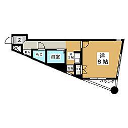 グランブルー広瀬[2階]の間取り