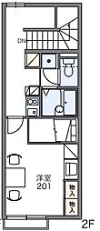 レオパレス永田[2階]の間取り