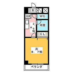ルミエール青山VI[6階]の間取り