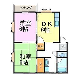 第3ひいらぎコーポ[2階]の間取り