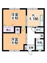 レジデンス上野田[105号室]の間取り