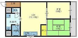 大阪府大阪市生野区新今里3丁目の賃貸マンションの間取り