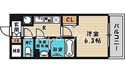 大阪府大阪市北区扇町2丁目の賃貸マンションの間取り
