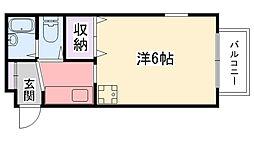 メゾン甲子園イースト[405号室]の間取り