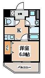 DWELL GALAXY(ドエルギャラクシー) 8階1Kの間取り